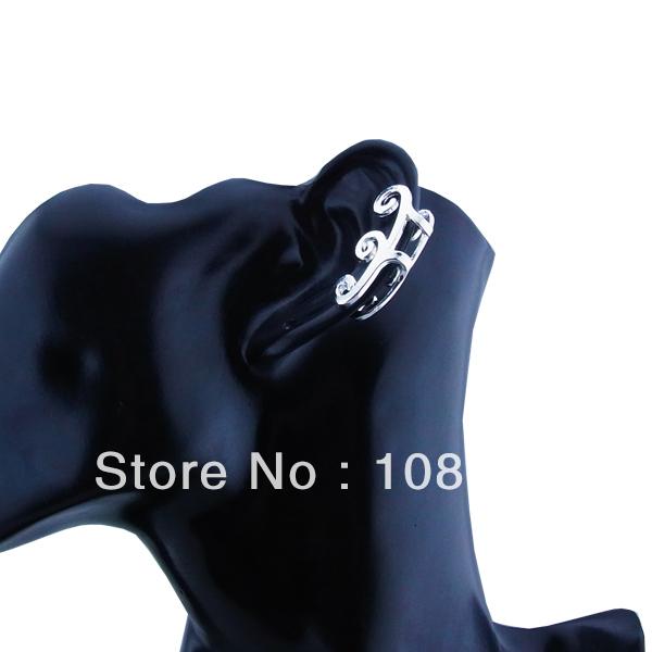 Free shipping (5 pieces/lot) fashion zinc alloy metal silver plated ear cuff fashion cuff earring wh22(China (Mainland))