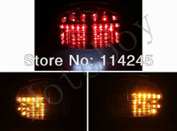 Smoke Integrated LED Tail Light Signals For Suzuki GSXR 600/750  2000-2003 For Suzuki GSXR 1000 2001-2002 motorcycle tail lamp