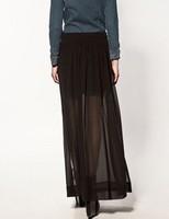 sexy club wear Fashion chiffon 2012 full dress elegant chiffon skirt bust skirt double placketing 2 plus size