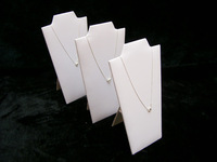 3pcs/Lot Neck Easel White Leather Necklace Pendant Holder Jewelry Display Stand, Free shipping