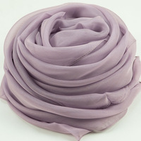 Elegant female summer mulberry silk long design silk scarf cape plain female subalpine ash