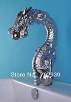 Free shipping chrome clour Dragon sink  faucet