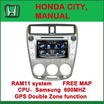 "8"" 2 Din Indash Car DVD Player Radio MP3 BT GPS Navi For Honda City 2010 2008 2009"