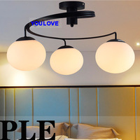 Brief vogue ceiling lamps bedroom ceiling light fixture restaurant  living room ceiling lighting 2 years warranty Dia50cm 3 lamp