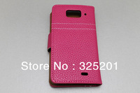 M1  Lychee PU leather luxury  case Wallet  Case for xiaomi M1  with stand   Free Shipping