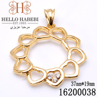 Wholesale&Retail 18K Gold Plated heart design Pendant Jewelry Made with Austria Crystal 16200038