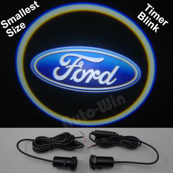 Car LED door lights for Ford  led logo light led car Decoration door prejection welcome light with timer blink 5th Gen