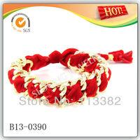 Red Velvet Double Chain Women's Bracelet