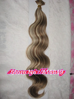 "AAA+ I Tip Virgin Hair 22"" #6/613 Body Wave Brazilian Virgin Hair Extension (1g/strand x 100)"