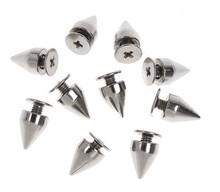 100pcs 9.5mm Silver Metal Bullet Rivet Spikes Stud Punk Bag Belt Leathercraft Accessories DIY Free Shipping A946(China (Mainland))