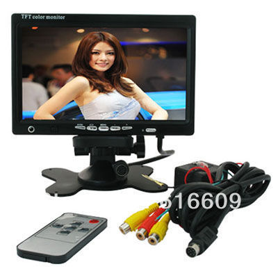 Car 7 inch Pillow TFT LCD Color Monitor 2CH Video Input car monitor--- discount sale(China (Mainland))