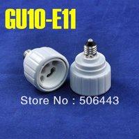 10pcs/Lot, E11 to GU10 Adapter, E11 Turn GU10 Lamp Base Converter, Wholesale,