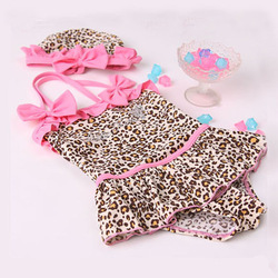 Baby Girls Toddler Swimwear Leopard Bikini Kids Bathing Suit One-Piece Swimsuit(China (Mainland))