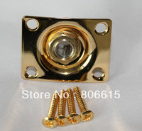 Gold Square Electric Guitar Output Jack Plate