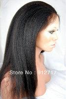 "Freeshipping!HIdden knots!!!Yaki straight 100%Brazilian virgin human hair 4*4 glueless silk top full lace wig 10""-24""in stock"