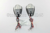 Clear&Carbon Flush Mount Motorcycle Turn Signals Blinker Lights Universal  motorcycle signals