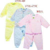 Thickening thermal newborn baby underwear autumn and winter newborn supplies 100% cotton clothing clothes set baby monk clothing