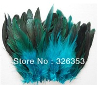Free shipping 200pcs Sky Blue Rooster feathers 5-7inche