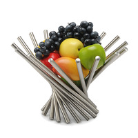 Stainless steel fruit plate fruit bowl fruit basket fashion hy1182 Large