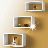 Wooden Wall Cubes/ Mur des cubes/Cubos parede/Cubos pared/Blokjes muur/Parete cubi/with Set of 3