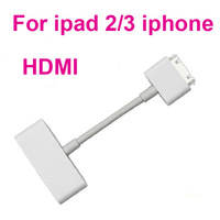 Digital AV Adapter HDMI Cable For iPad 2 iPhone iPod Touch 4,with Retail Package,1pcs/lot+Free Shipping