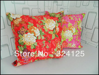 5pcs 45*45cm Free Shipping Fashion Fabric thickening  jacquard cushion cover pillow cases flower in double side 2 color in