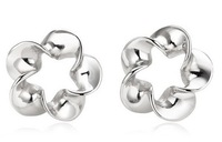 Newest Hot 2013 Wholesale 925 Sterling silver stud Earrings Fashion 925 Sterling silver jewelry  ET004