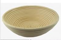 Backing Tools 1pcs 22cm Round Bread Proof/Proofing/Prooving Basket Natural Rattan Basket Heathy Banneton Brotform Freeshipping