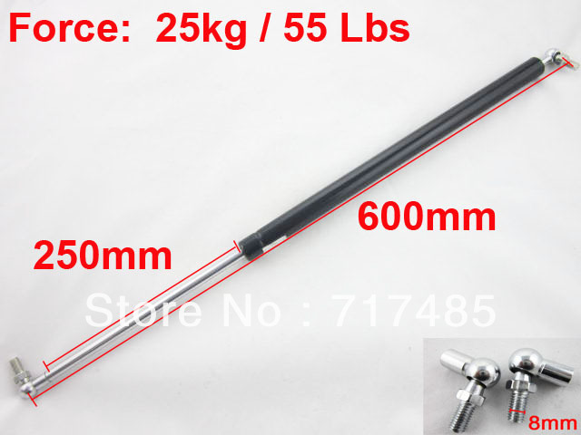 10inch Stroke Ball Joint Support Furniture Gas Spring Strut Lift Force 25kg / 55 Lbs for Door/Cabnite/Chair Free Shipping(China (Mainland))