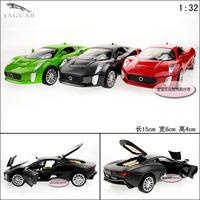 1:32 Jaguar xk acoustooptical exquisite alloy cool four door alloy car model free air mail