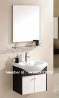 luxury and modern stainless steel bathroom cabinet vanity cabinet with Free shipping