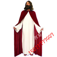 Free shipping ! Halloween party cos clothes performance wear red jesus cter Costumers  Cartoon Chara