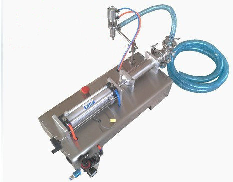 Piston filler for oil,sauce,juice,milk(100-1000ml)+pneumatic+stainless steel++high quality+free shipping(China (Mainland))