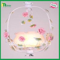 Rose Flower Pendant Lighting Freeshipping Fashion Modern Wrought Iron Lights Ceiling Lamp Bedroom Livingroom