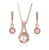 Ювелирный набор 18K gold jewelry set Earring and Rings