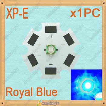 Cree XLamp XP-E 1W 3W Royal Blue 450nm-455nm LED Light Emitter Bulb mounted on 20mm Star PCB