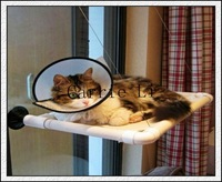 Free Shipping 120pcs/lot New Window Mount Cat Bed As Seen On TV Sunny Seat Cat Bed With Color Box Package