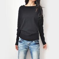 Spring new arrival 2013 women's JNBY long-sleeve slit neckline basic sweater