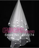 2013 Hot Sale Bowknot 10pcs/lot Beading Wholesale Weding Veil Free Shipping