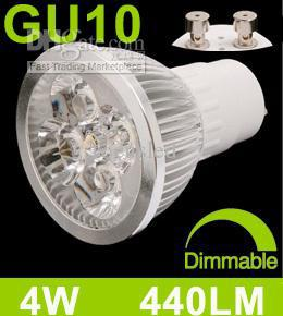 First 440 LM 4W Dimmable Led Spotlight Bulbs Light GU10 4 Leds Bright Warm White Led Lamp 110V 230V