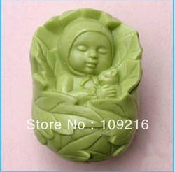 Free shipping!!!1pcs Sleep Baby (50236) Silicone Handmade Soap Mold Crafts DIY Mold(China (Mainland))
