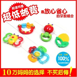 New arrival!! Obbe baby teeth stick baby teethers toys teethers rattles, 5 combination for Free shipping(China (Mainland))