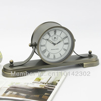 Newest Sailing  Timepiece Alarm Clock Metal Case Napoleon Quartz Clock Antique Style Clock Free Shipping