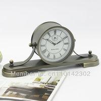 Newest Sailing  Timepiece Alarm Clock Metal Case Napoleon Quartz Clock Antique Style Clock Free Shipping