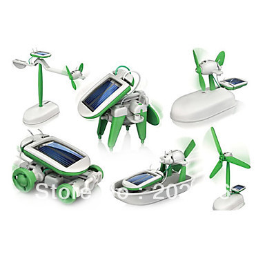 Free Shipping !!!DIY 6 in1 Educational Solar Kit ( Windmill+Plane+Airboat+Revolving Plan+Puppy+Car) with Cheap Price(Hong Kong)