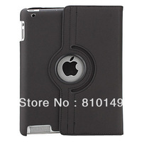 360 Degree Rotating Stand Smart Cover PU Leather Case (for iPad 4/the new iPad/iPad 2)