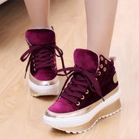 free shipping 2013 fashion platform boots fashion high female shoes multicolour swing platform casual shoes Woman's sandals