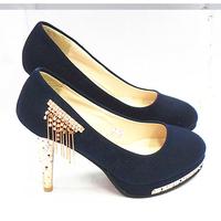 free shipping 2013 fashion high-heeled shoes princess shoes fashion elegant stiletto shoes black blue l Woman's sandals