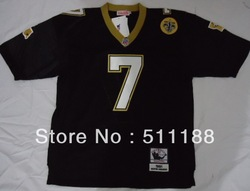 Mens New Orleans #7 ANDERSON Black Color M&N Throwback Football Jersey,Size 48-56,like picture(China (Mainland))