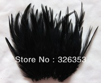 Free shipping 200pcs  Black Pheasant Neck Feathers 10-15cm/4-6inche Dress jewelry/Christmas/Halloween decoration